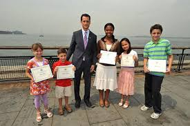 thrill for daily news statue of liberty essay contest winners ny five children received congressional citations and tickets for the statue of liberty crown from congressman anthony