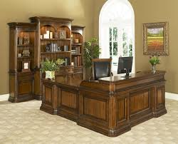home office desk with hutch. Office Solutions Winsome Home Traditional Double Pedestal Desk \u0026 Return | Sprintz Furniture L-Shape Nashville, Franklin, And Greater Tennessee With Hutch