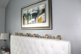 silver blue hue metallic paint on accent wall