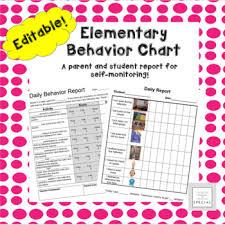 Student Parent Behavior Chart Editable