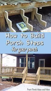 porch steps how to build steps