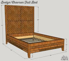 west elm queen bed.  West How To Build A DIY West Elminspired Chevron Bed  Free Plans By Jen And Elm Queen N