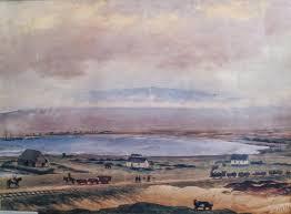 kahului bay and haleakala by edward bailey 1866