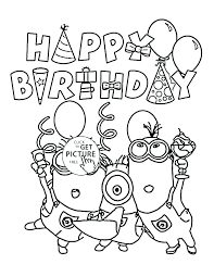 Birthday Color Pages Birthday Coloring Free Happy Birthday Colouring