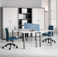 house design cool modern office furniture design idea with white table with light blue devider dark alluring gray office desk