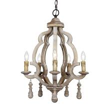 distressed white wood chandelier more views 5 light candle wooden antique d87