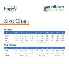 Scrubs Size Chart