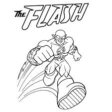 Kleurplaat Flash Super Friends Kleurplaten Kleurplatenpagina Nl