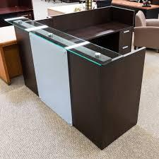used national waveworks reception desk espresso der1530 001 in desks remodel 6