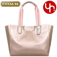 coach f59388 metallic metal grey pebble leather large derby tote bag navy cherry red