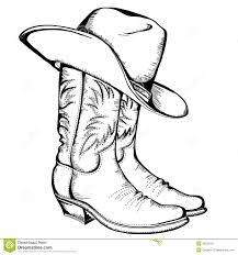 Small Picture Cowboy Boot Coloring Page At Boots Pages In Hat itgodme
