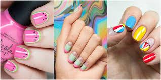 Bright Flower Nail Art Design Tutorial Nail Designs For Summer Makar Bwong Co