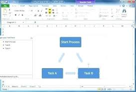 Excel Cash Flow Diagram How To Create A Flowchart In Excel How To Create Flow Charts In