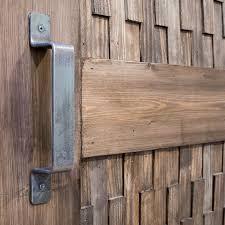 diy barn door with metal pull handle