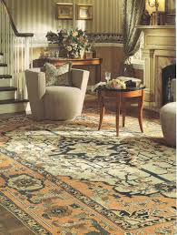 the rug is an astoundingly simple design with a limited color pallette that an interior designer or client can meld into almost any design scheme