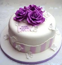 50th Birthday Cake Designs Female Purple And Teal First Little