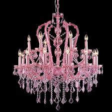 pink crystal chandelier pink traditional colored 18 light pertaining to popular house pink crystal chandelier remodel