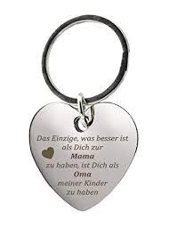 Schlüsselanhänger Herz Mit Gravurdas Einzige Was Besser Ist Als Dich Zur Mama Zu Haben Ist Dich Als Oma Meiner Kinder Zu Haben Chrom
