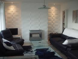 Wall Covering For Living Room Favored White Sectionals With Custom Square Hanging Lights Also 3d