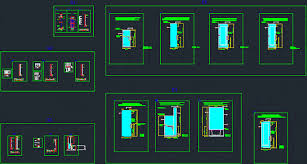 shower doors dwg block for autocad