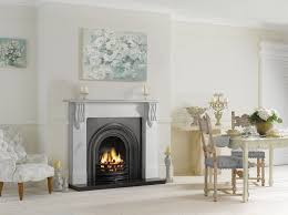 stovax victorian corbel stone mantel in antique white marble with stovax decorative arched insert in matt black