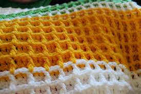 Waffle Pattern Crochet Magnificent Decorating