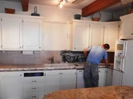 Simple Painting Oak Kitchen Cabinets White Throughout Inspiration