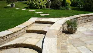 Small Picture Image result for steps from patio to lawn Stepped garden