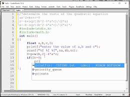quadratic equation c programming tutorial 14 using if else determine the roots