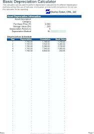 Fixed Asset Depreciation Calculator Schedule Asset Record Template Forms Depreciation Table Excel Ule