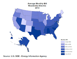Average Cost Of Water Heater Average Monthly Electrical Bill By State Updated Data Eye On