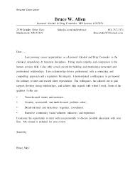 Addiction Therapist Cover Letter Substance Abuse Counselor Cover