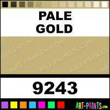Pale Gold Gamblin Oil Paints 9243 Pale Gold Paint Pale