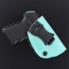 P22 Light Infused Kydex Usa Iwb All Kydex Holster For Ruger Lc9 Sccy 9 Walther P22 Light Blue Pink Inside The Waistband