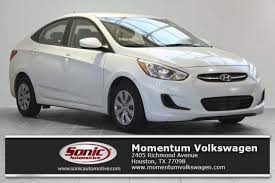 Chalk White 2017 Hyundai Accent: Used Car for Sale in Houston ...