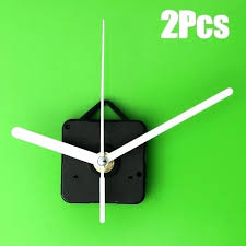 diy wall clock kit 2 x quartz wall clock movement mechanism white hand repair parts diy