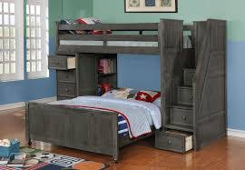 twin over full bunk bed with stairs. Twin Over Full Bunk Beds Stairs Grey Bed With