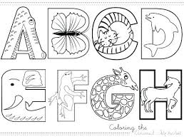 Spanish Alphabet Coloring Pages Printable Animal Alphabets