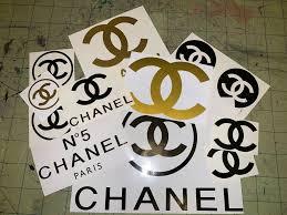 Designer Brand Logo Stickers Chanel Sticker In 2019 Chanel Stickers Grab Bags Chanel