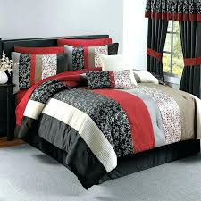 black red gray bedding red black comforter sets comforter black and red urban bedroom with queen