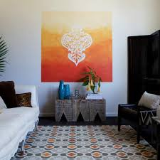 how to paint an ombre stencil wall mural