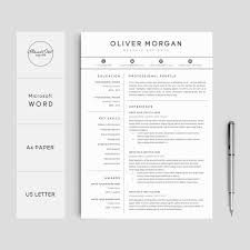 Etsy Resume Template Best Resume Template Professional Resume Cover Letter 28 Page Etsy