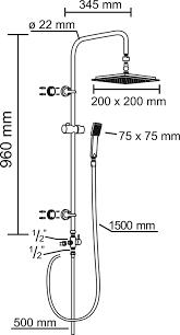 Conp Carballo Duschsystem Rund Sa330100 Conmetall
