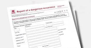 Riddor Reporting Of Injuries Diseases And Dangerous