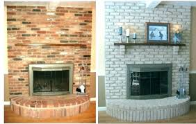 update brick fireplace ideas red how to redo a fireplaces full size