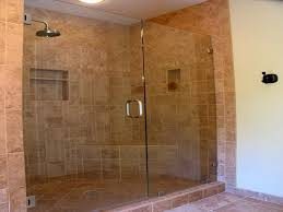 Here's a large ceramic tile walk in shower.