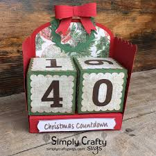 Available in png and vector. Christmas Countdown Simply Crafty Svgs