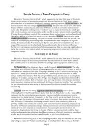 summary and analysis essay docoments ojazlink analysis essay example
