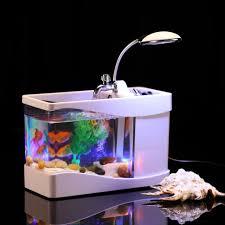 Furniture Accessories:Unique Mini Aquarium Table Lamp Unique Glass Aquarium  Tanks Designs