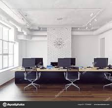 contemporary loft furniture. Modern Loft Office Interior Contemporary Business Concept Rendering \u2014 Stock Photo Furniture A